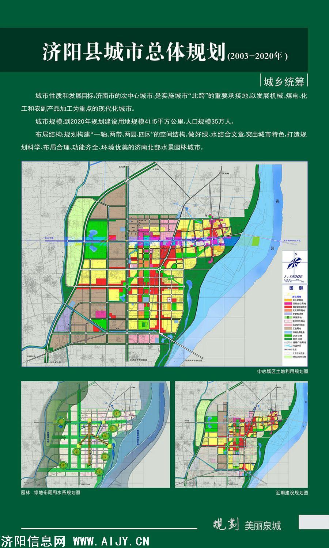 济阳县城市总体规划图(2003-2020)
